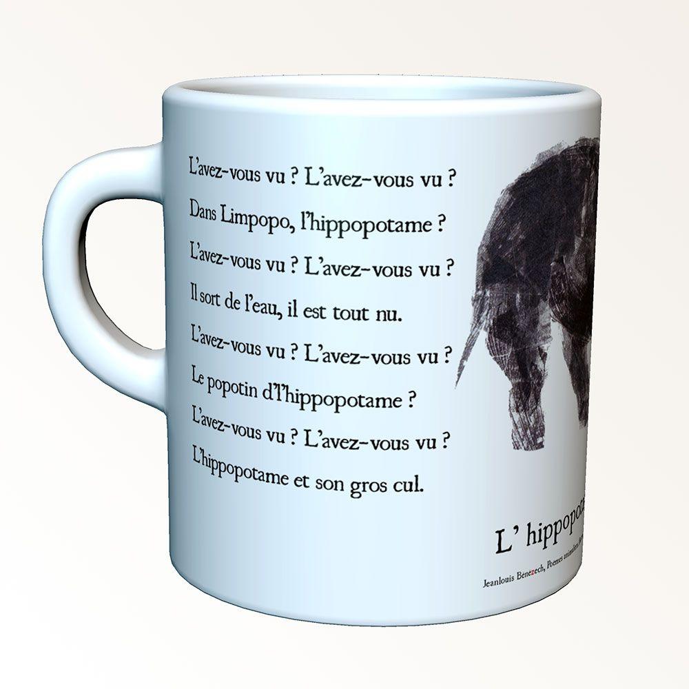 Tasses-poèmes - Das Flusspferd