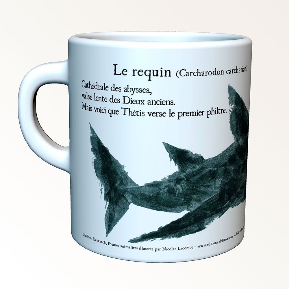 Tasses-poèmes - The shark