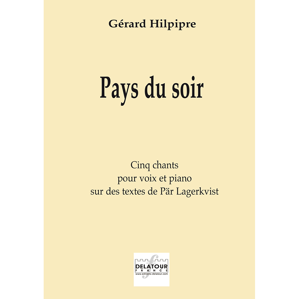 Pays du soir for voice and piano