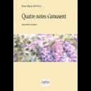 Quatre notes s'amusent für Viola und Klavier