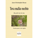 Tova malko nechto for 4 equal voices