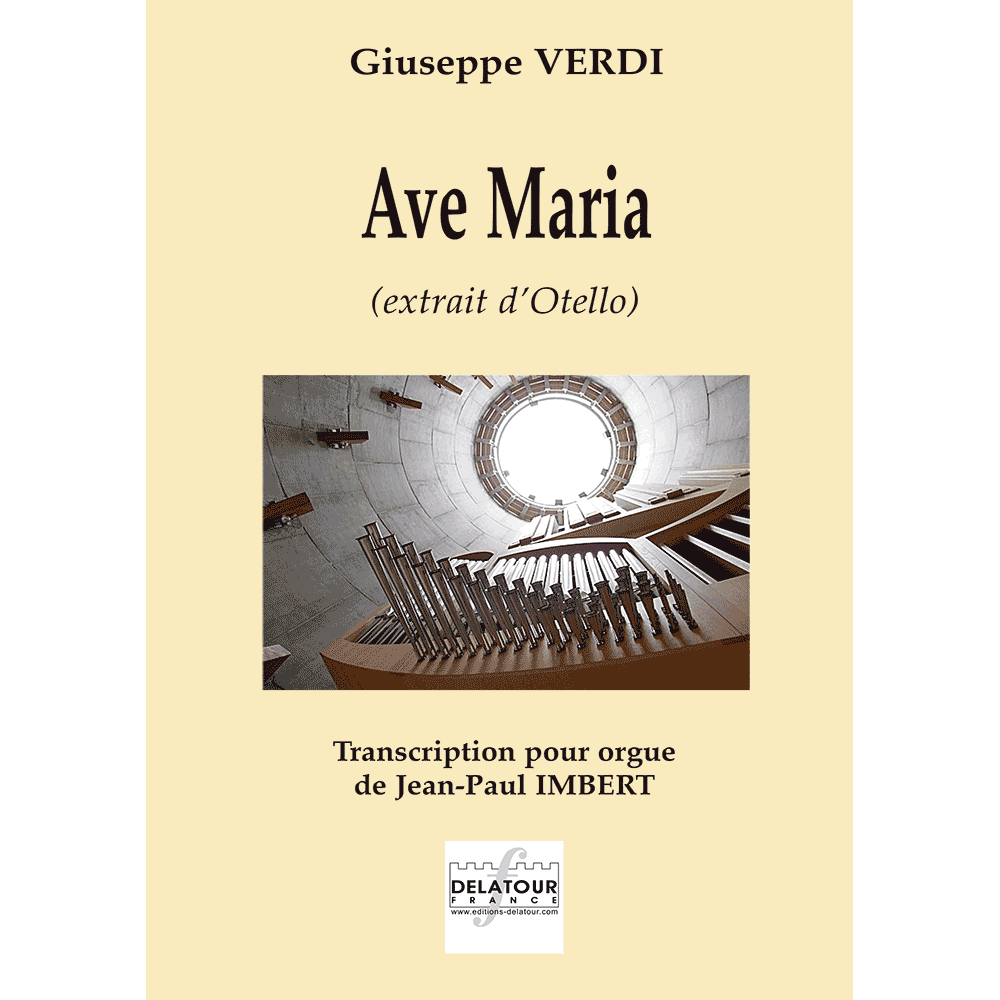 Ave Maria (extract from Otello) for organ