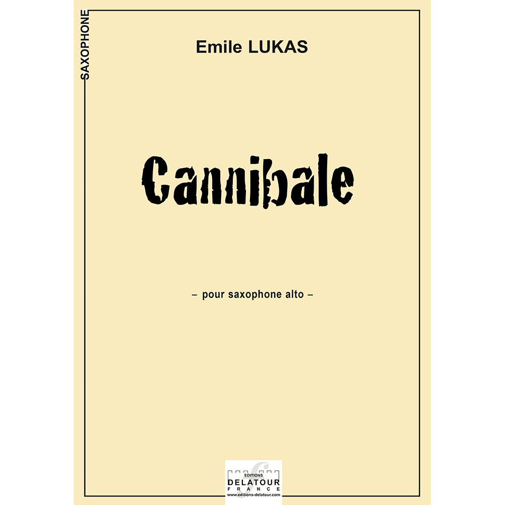 Cannibale for alto saxophone