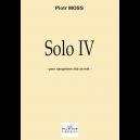 Solo IV pour saxophone alto