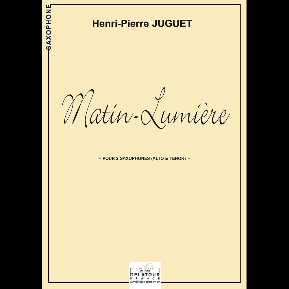 Matin-lumière für 2 Saxophone