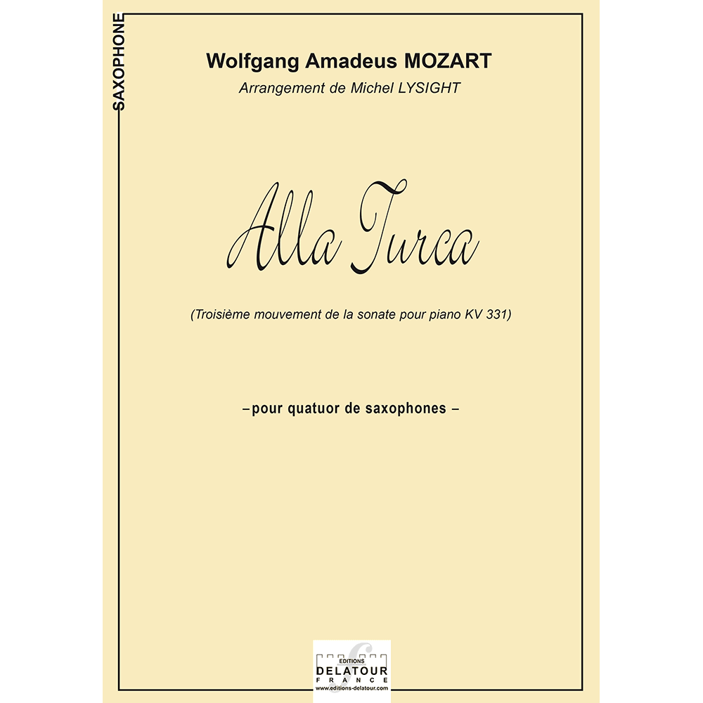 Alla turca (saxophone quartet version)