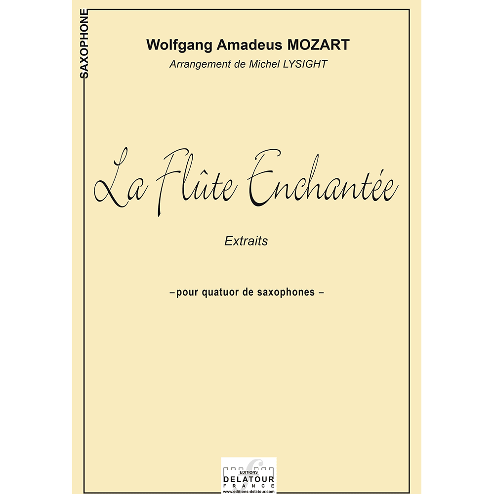 The magic flute (extracts) for saxophone quartet