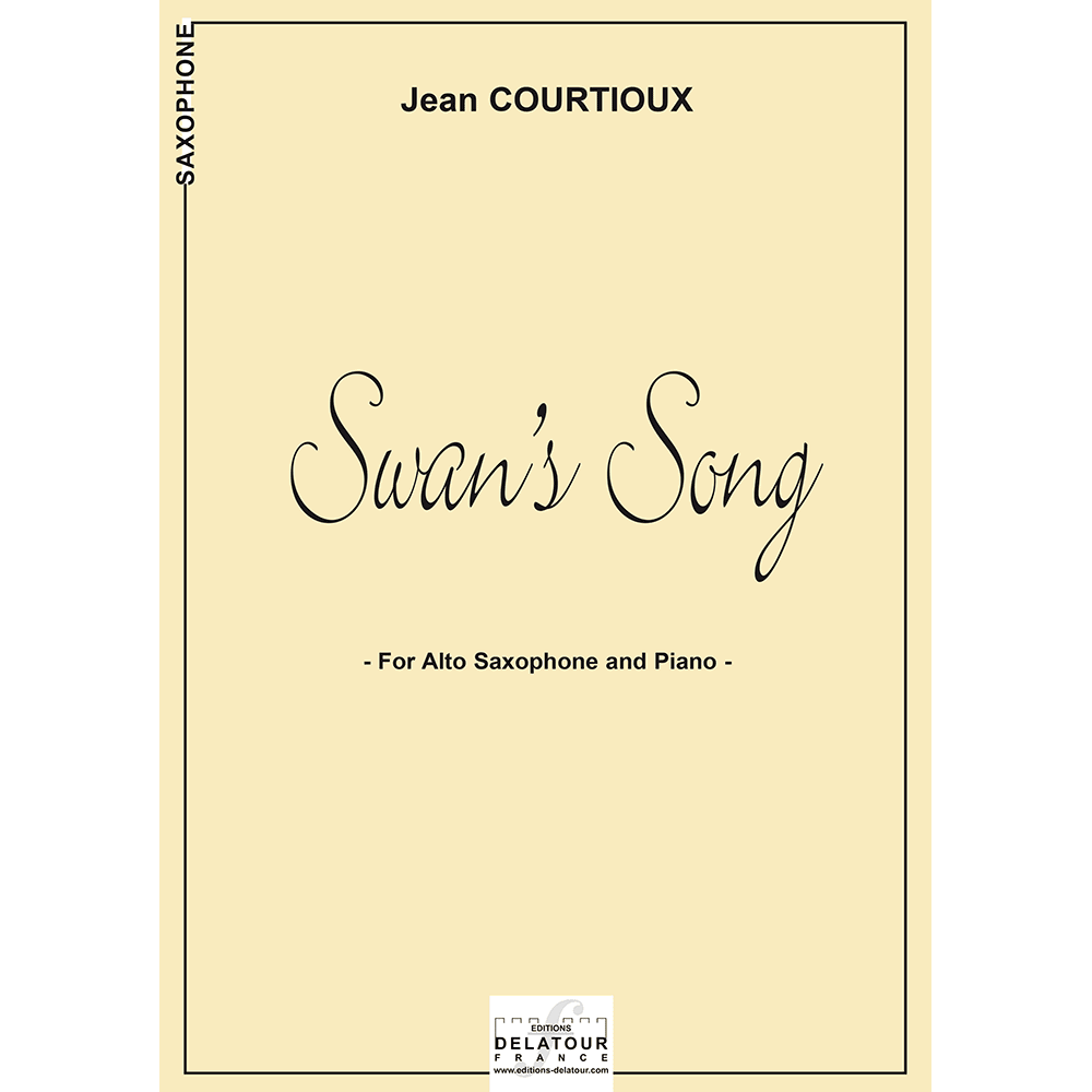 Swan's song for alto saxophone and piano