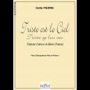 Triste est le ciel (Triste ey lou ceu) pour saxophone alto et piano