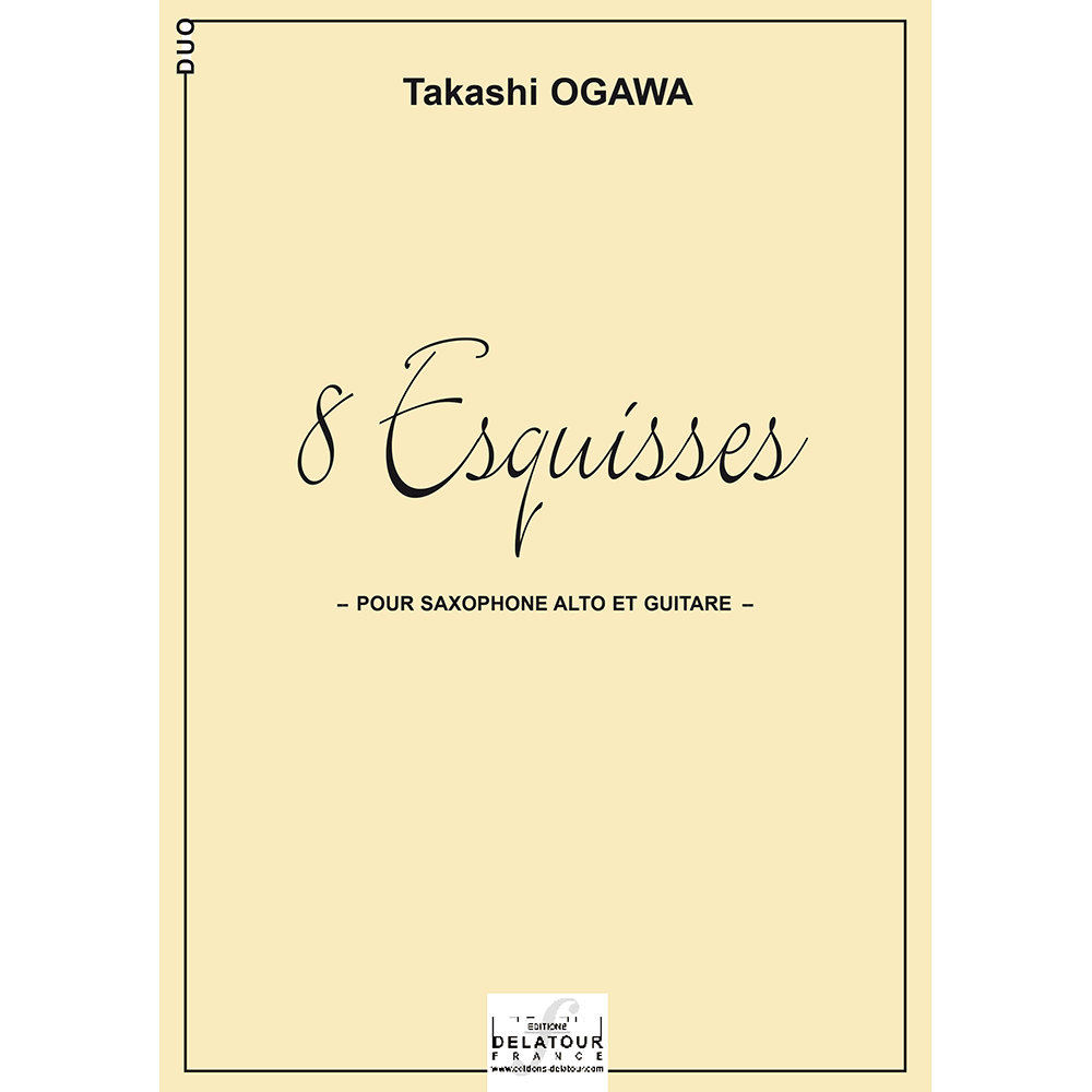 8 esquisses for alto saxophone and guitar