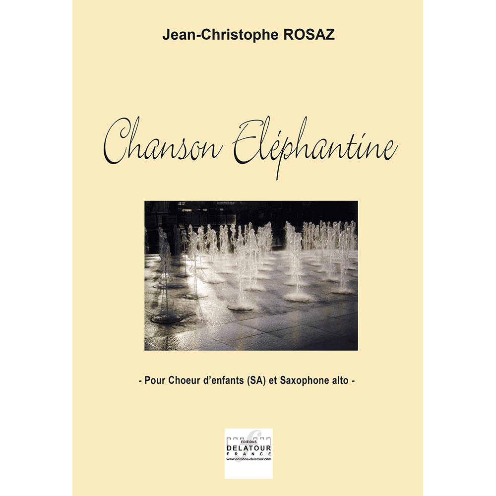 Chanson éléphantine for children's choir (SA) and alto saxophone