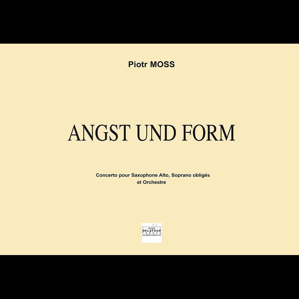 Angst und Form - Concerto für Altsaxophon, Sopran and Orchester (FULL SCORE)