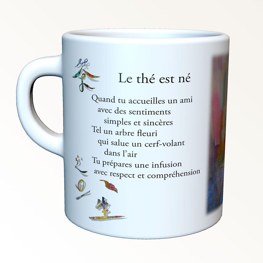Tasses-poèmes - Le thé est né