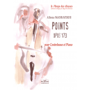 Points opus 173 for double bass and piano