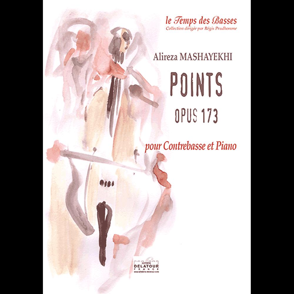 Points opus 173 für Kontrabass und Klavier