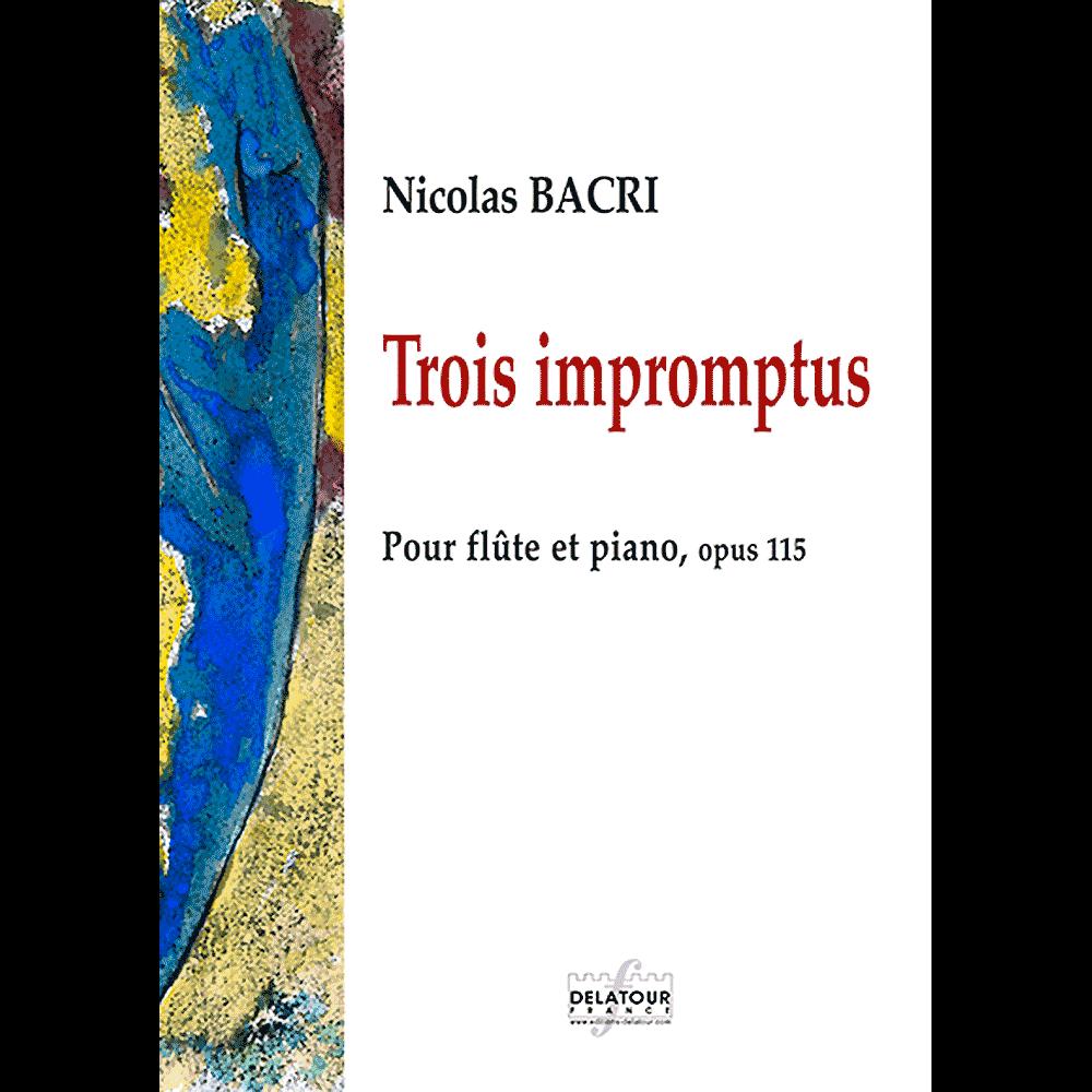 Trois impromptus für Flöte und Klavier