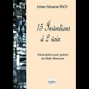 15 inventions à 2 voix BWV 772-786 pour guitare seule