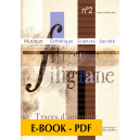 Revue Filigrane n°2 - Traces d'invisible - E-book PDF