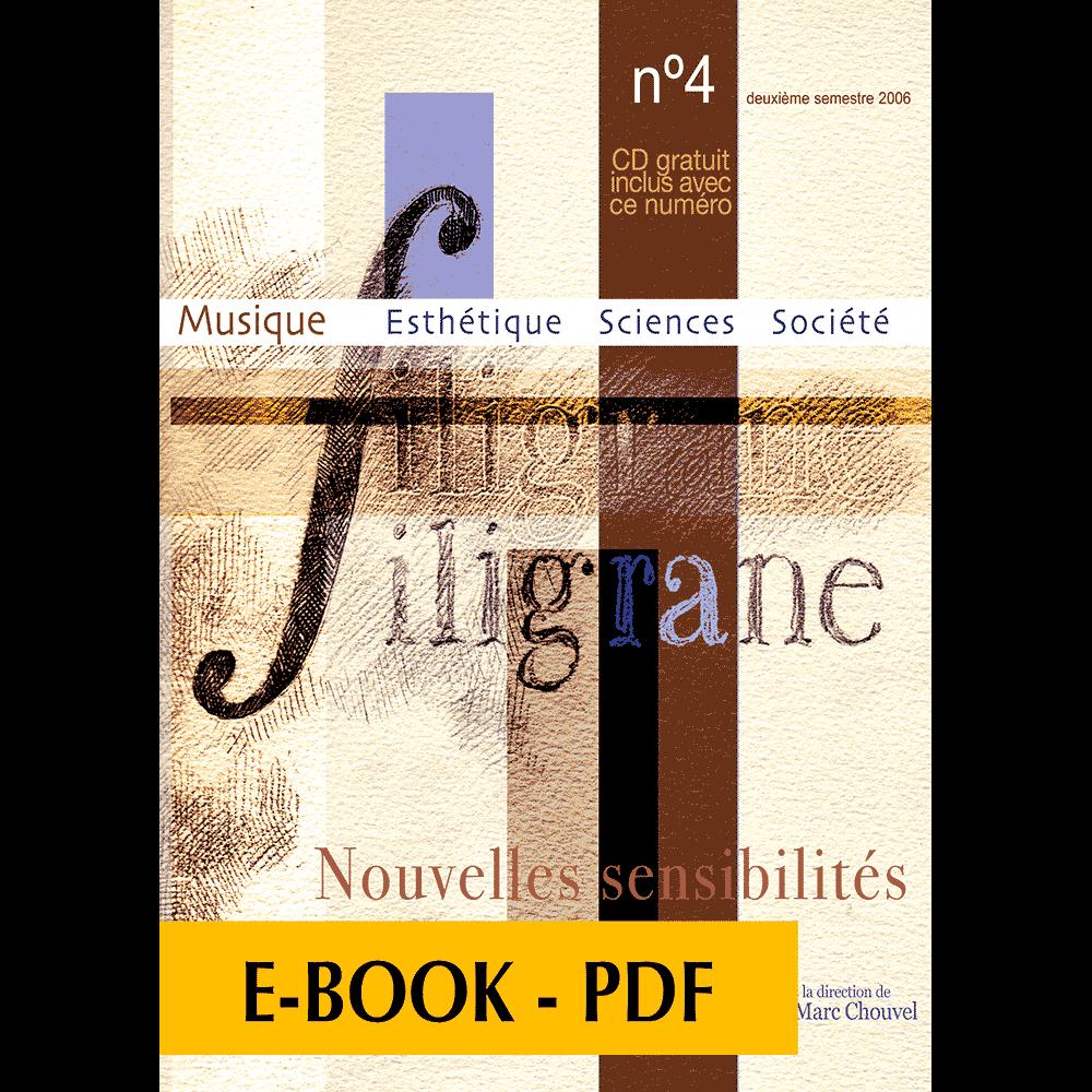 Revue Filigrane n°4 - Nouvelles sensibilités - E-book PDF