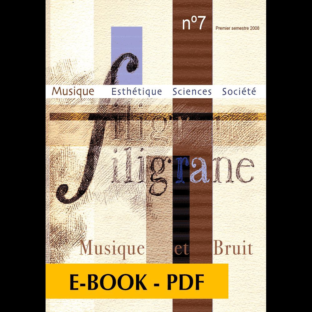 Revue Filigrane n°7 - Musique et bruit - E-book PDF