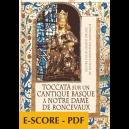 Toccata sur un cantique basque à Notre Dame de Ronceveaux pour orgue - E-score PDF