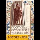 Evocation sur le cantique Basque HOR ZAUDE JESUS pour orgue - E-score PDF